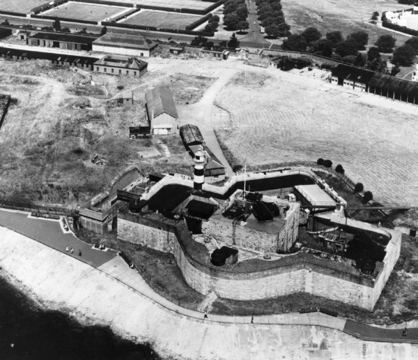 The Castle as it looked when the Army left in 1960. The most modern additions were removed so that today the building looks similar to how it would have done in 1814.